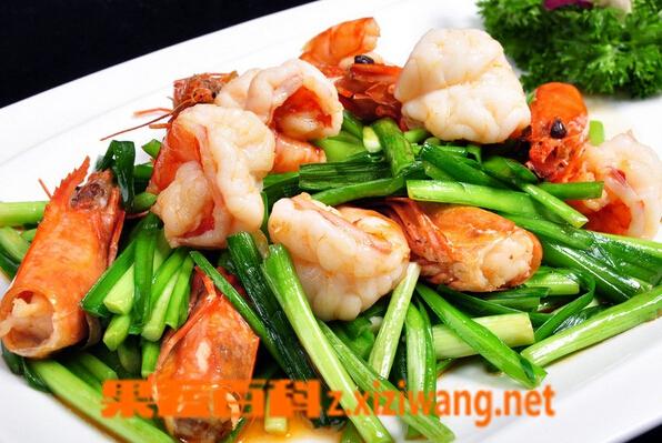 果蔬百科虾和韭菜